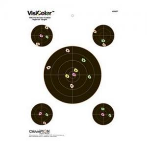 Champion Targets Visicolor Sightin 8 inch 10pk 45827