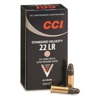 CCI Standard Velocity, .22LR, LRN, 40 Grain, 500 Rounds 50035