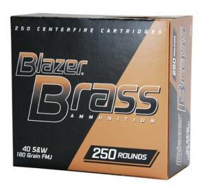 CCI Ammunition Blazer Brass .40 SW 180GR FMJ 250Rds 52201