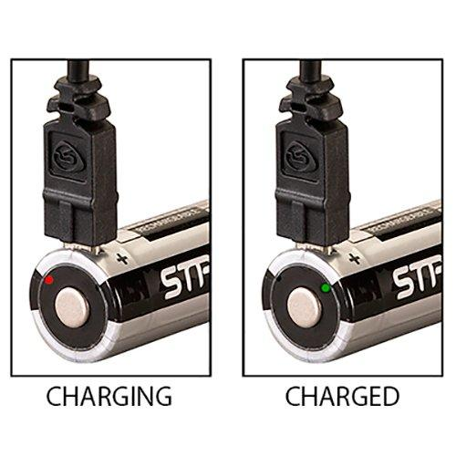 Streamlight 18650 li-ion rechargeable batteries with micro USB charge port 22102