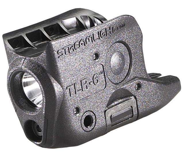 Streamlight TLR-6 Subcompact Gun-Mounted Tactical Light w/Red Laser, Glock 42/43, Black, 69270 69270