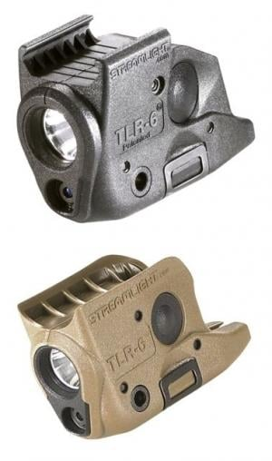 Streamlight TLR-6 Rail SA XD Weapon Light w/White LED /Red Laser, Black, 69291 69291