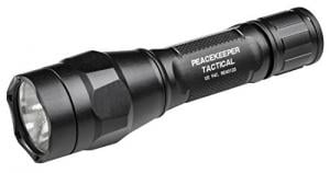 SureFire P1R Peacekeeper, Single-Output Rechargeable LED Flashlight with anodized aluminum body, Black P1R-A-BK