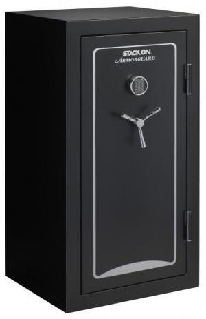 Stack-On 40-Gun, Electronic Lock,, Matte Black, A-40-MB-E-S A40MBES