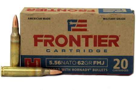 HORNADY 5.56 NATO 62 gr FMJ Frontier 20/Box FR260
