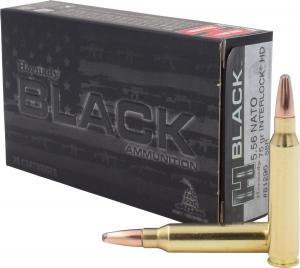 Hornady Black 75 Grain SBR Interlock HD Brass 5.56 20Rds 81296