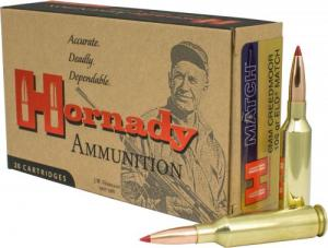 Hornady ELD-Match 108 Grain Brass 6mm Creedmoor 20Rds/ Box 81391