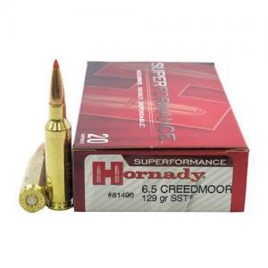 Hornady Superformance 129 Grain SST Brass 6.5 Creedmoor 20Rds 81496