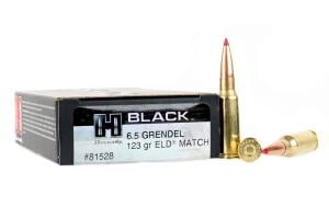 Hornady Black 123 Grain ELD-Match Brass 6.5 Grendel 20Rds 81528