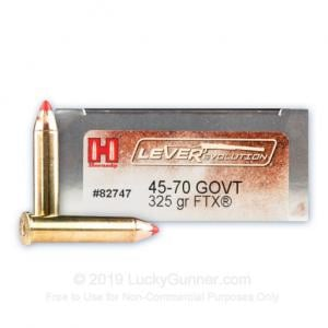 45-70 Government - 325 Grain FTX - Hornady LEVERevolution - 200 Rounds 090255827474