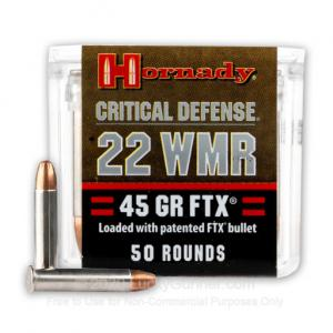 22 WMR - 45 gr FTX Critical Defense - Hornady - 2000 Rounds 090255832003