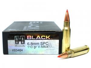 Hornady Black 110 Grain V-Max Brass 6.8 SPC 20Rds 83464