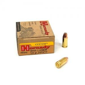Hornady Custom 9mm 124GR JHP 25rds 90242