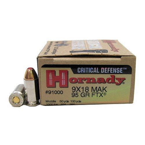 Hornady Critical Defense 9MM Makarov 95GR FTX 25Rds 91000