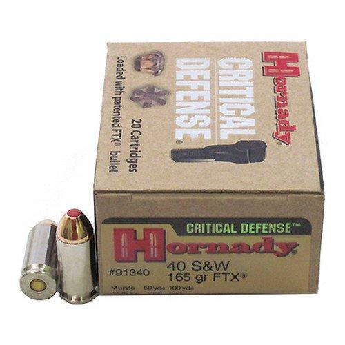 Hornady Critical Defense .40S&W 165GR FTX 20rds 91340