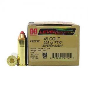 Hornady LEVERevolution .45LC 225GR FLX 20Rds 92792
