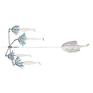 Blue Water Candy Striperbrella Rigs - Chartreuse 091533009165