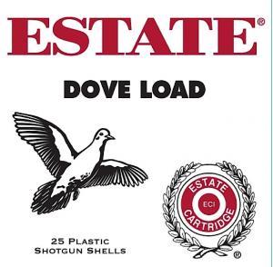 Estate Game & Target Dove Lead 12ga 2.75-inch 1-1/8oz 7.5 Shot 25Box GTL12N 7.5