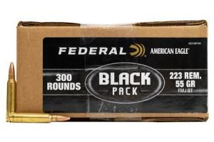 FEDERAL AMMUNITION 223 REM 55 gr FMJ BT Black Pack 300/Box AE223BF300