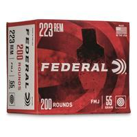 Federal American Eagle, .223 Remington, FMJ, 55 Grain, 100 Rounds 604544651126
