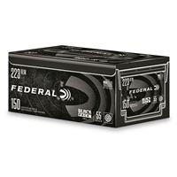 Federal Black Pack, .223 (5.56x45mm), FMJ, 55 Grain, 150 Rounds AE223BF150