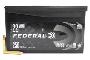 FEDERAL AMMUNITION 22 WMR 40 gr FMJ Black Pack 250/Box 737BF250