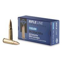 PPU, 7.62x39mm, FMJ, 123 Grain, 20 Rounds PP338H