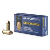 PPU, .40 Smith & Wesson, FPJ, 165 Grain, 50 Rounds PPH40F
