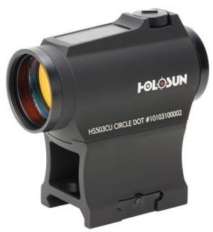 Holosun Circle Micro Red Dot Sight,2 MOA Dot,65 MOA Circle,Black HS503CU HS503CU
