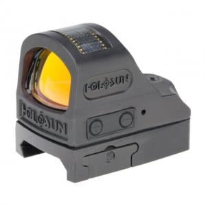Holosun HE508T Elite Series Micro Red Dot Sight, 1x, 2 MOA Dot/32 MOA Ring, CR2032 Battery, Black, HE508T-RD 605930624731