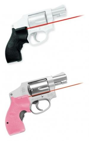 Crimson Trace Lasergrip for S&W J-Frame Round Butt Revolver, Front Activation, LG-105-PINK LG105PINK