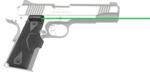 Crimson Trace 1911 Government/Commander, Lasergrips, Green laser, Black LG-401G LG401G