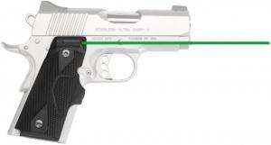 Crimson Trace Lasergrip for 1911 Officer's/Defender/Compact, Green laser, Black, LG-404G LG404G
