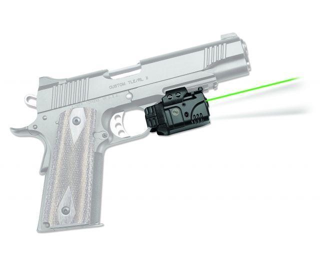 Crimson Trace Rail Master Pro - Universal Rail Mount Laser-LED Combo, Black, Green Laser CMR-204 CMR204