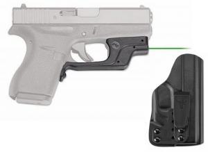 Crimson Trace Green Laserguard for Glock 42 w/BladeTech IWB Holster, LG-443G-HBT-G42 LG443GHBTG42