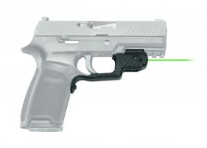 Crimson Trace Laserguard Green Laser Sight, Black, 5mW, 515-532nm, For Sig Sauer P320, LG-420G LG420G