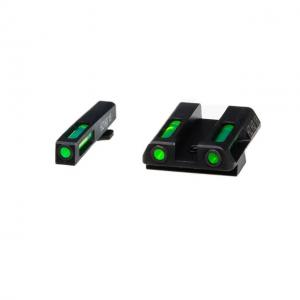 HiViz Litewave H3 Tritium/Litepipe Sight Set, Glock 42/43, GLN321 GLN321