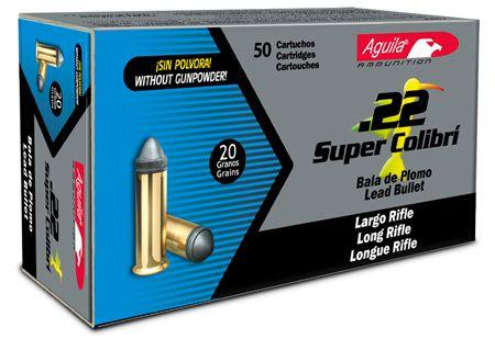 Aguila Ammunition Super Colibri 22lr 20gr Solid Point 50rd Box 01296 01296