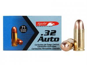 Aguila Ammunition .32ACP 71gr FMJ 50rd 1E322110
