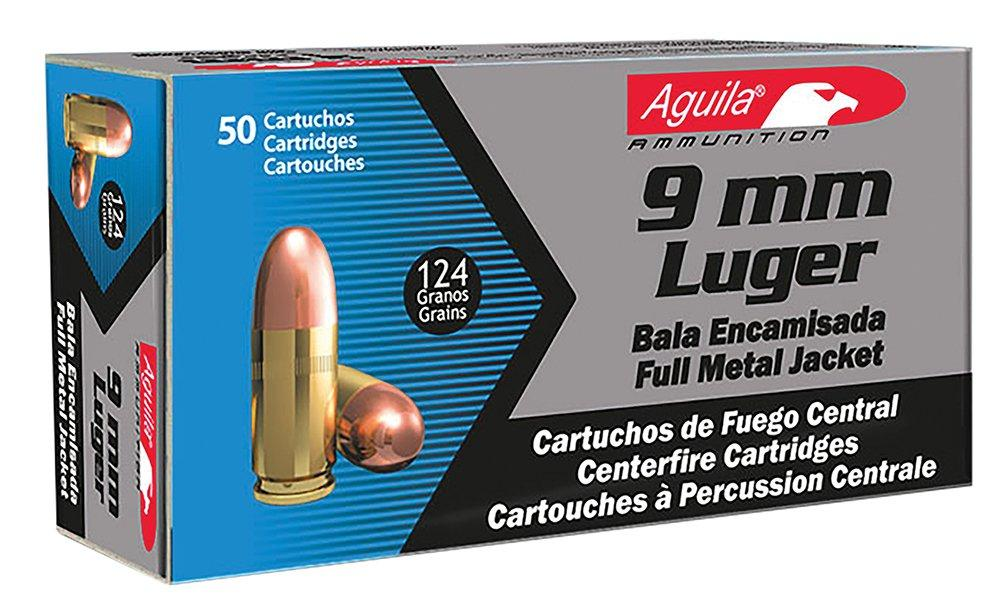 Aguila Ammunition 9mm 124gr FMJ 50rd 1E092110