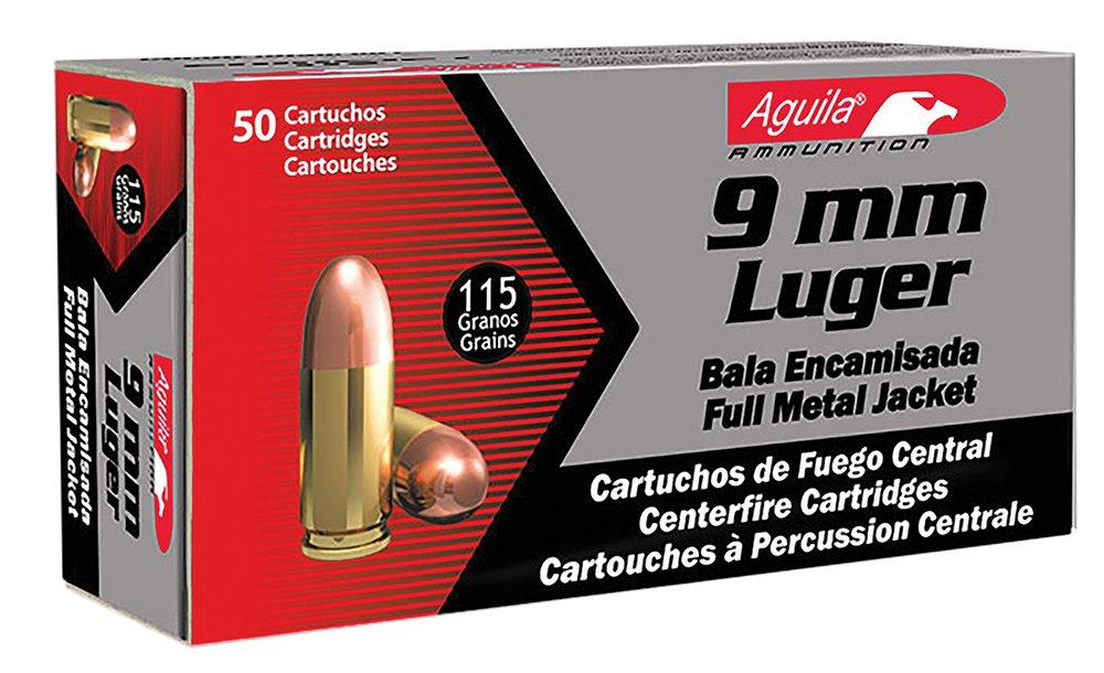 Aguila 9mm Luger 115gr. FMJ Brass 9mm 50Rds 1E097704