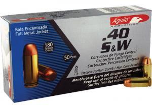 Aguila Ammunition .40S&W 180gr FMJ 50rd 1E402110