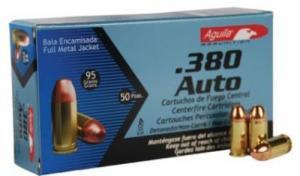 Aguila Ammunition .380 ACP 95GR FMJ 50Rds 1E802110