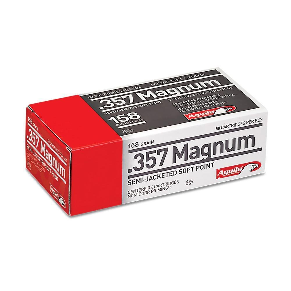 Aguila Ammo .357MAG 158GR Semi-Jacketed Soft Point 50rds 1E572823