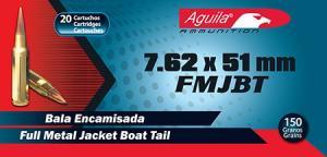 Aguila Centerfire Nato Brass 7.62 X 51 20Rds 1E762110