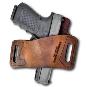 VersaCarry Protector S1 OWB Holster, Water Buffalo Leather, Distressed Brown, 1911/Micro, WBOWB22 WBOWB22