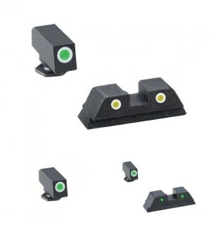 Ameriglo Tritium Night Sight Set, Classic Green Front,Green Rear for Glock 17, 19, 22, 23, 24,26,27,33,34,35,37,38,39 - GL113 GL113