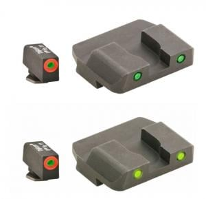AmeriGlo Spartan Tactical Operator Sights for Glock, ProGlo, Orange Circle Front and Pro Op Rear, Green, GL-446 GL446