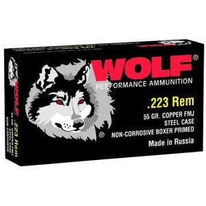 WORN Wolf Performance Ammo MC22355FMJ MLT 223 55GR 20 645611223112