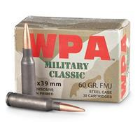 Wolf Military Classic, 5.45x39mm, FMJ, 60 Grain, 750 Rounds 645611300981